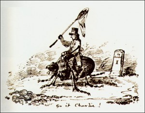 A cartoon drawn by Darwin's friend in 1832