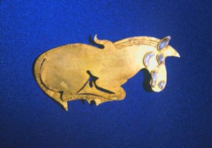 Scythian gold plaque