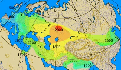 The spread of chariots: 2000BC onward