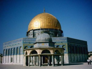 The Dome of the Rock, where Muhammad ascended on the white horse Buraq