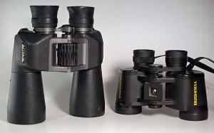 3 upright binoculars