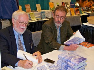 "Banchoff and Lindgren sign copies of ""Flatland"" at MAA"