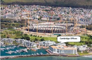 The Cape Town office is quite close to the stadium! Must be noisy!