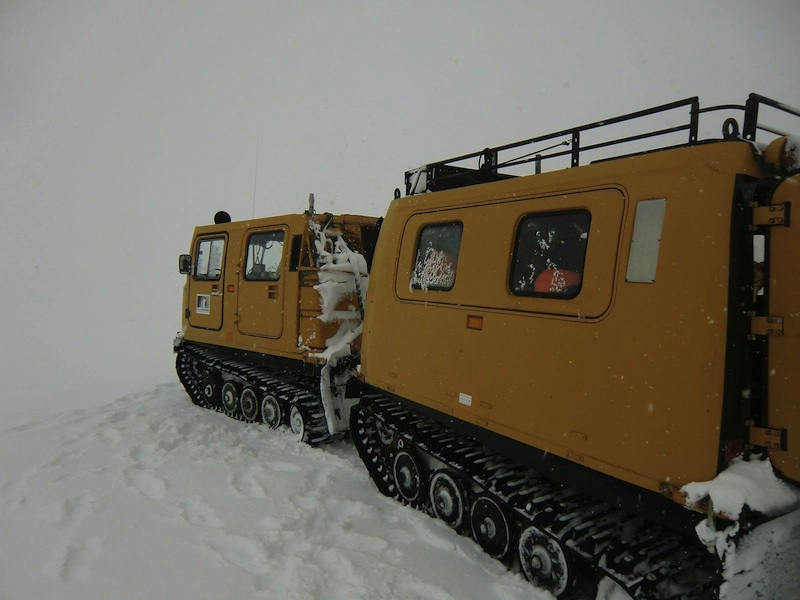Hagglunds in the Antarctic