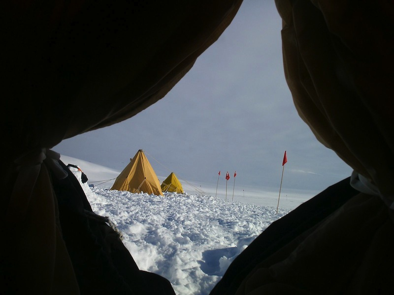 Camping on the Ross Ice Shelf in Scott tents, whose design has not really changed in over 100 years. Photo: Nicole Calder-Steele
