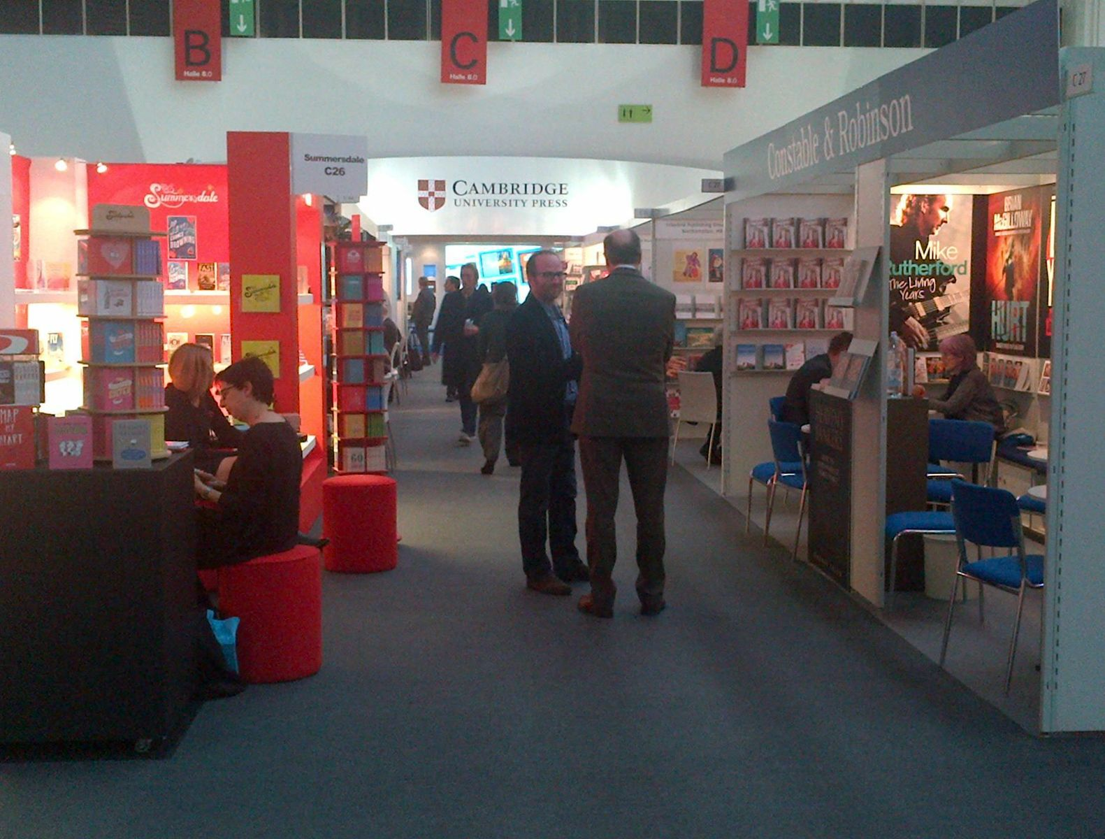 Cambridge University Press stand amongst others at Frankfurt Book Fair