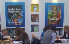 Rights and Permissions team attending meetings at the Cambridge University Press stand at Frankfurt Book Fair.