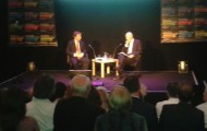 Pascal Lamy being interviewed by Philip Collins at The Times Cheltenham Literature Festival 2013.