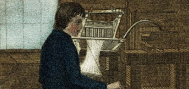 a 19th century loom worker