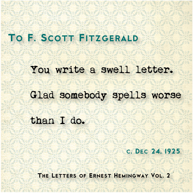 To Fitzgerald
