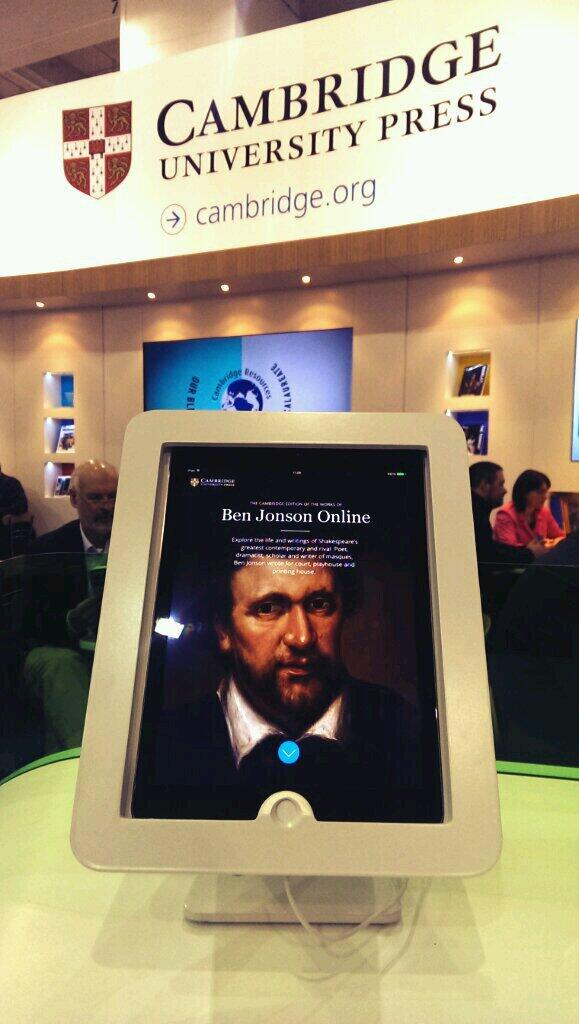 Ben Jonson Online, on an iPad. I doubt he had this format in mind.