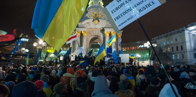 Thousands of Ukrainians are continuing to express support to eur