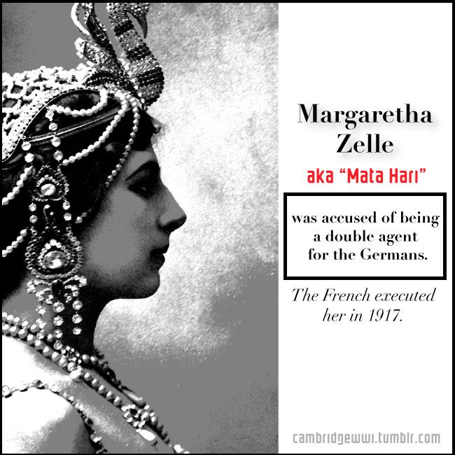 "Margaretha Zelle aka ""Mata Hari"""