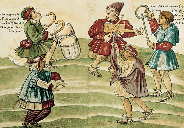 "Morisco dancers from Jost Amman's contemporary Trachtenbuch (""Costume Book""; 1529)"