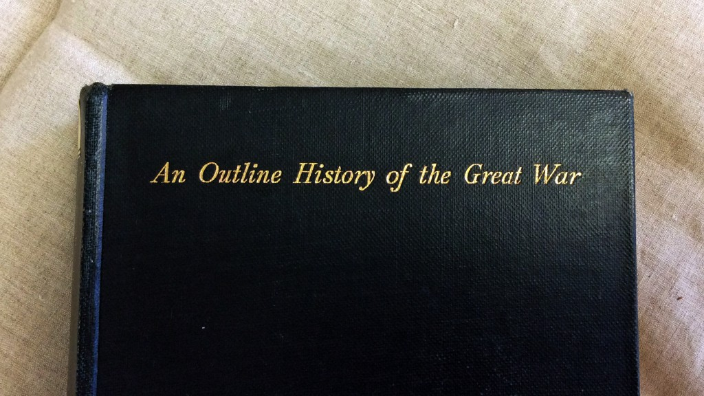 Cover of 'An Outline History of the Great War', courtesy of the Cambridge University