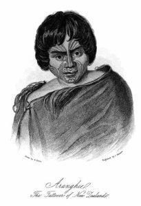 Earle's portrait of a Maori tattooer