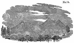 Mount Etna, from Lyell's 'Principles of Geology'