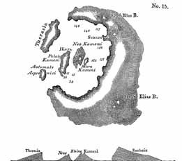 Santorini. from Lyell's 'Principles of Geology'