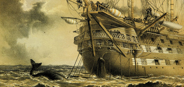 HMS Agamemnon laying Atlantic telegraph cable in 1858