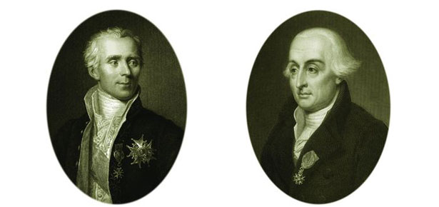 Pierre-Simon de Laplace (L) and Joseph Louis Lagrange (R)