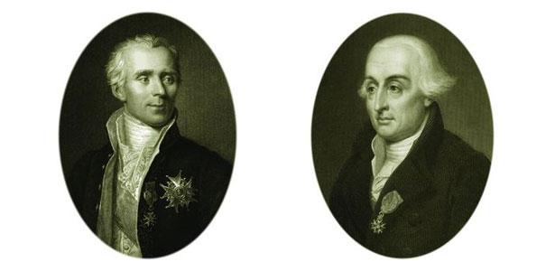 Pierre-Simon de Laplace (L) and Joseph Louis Lagrange (R)