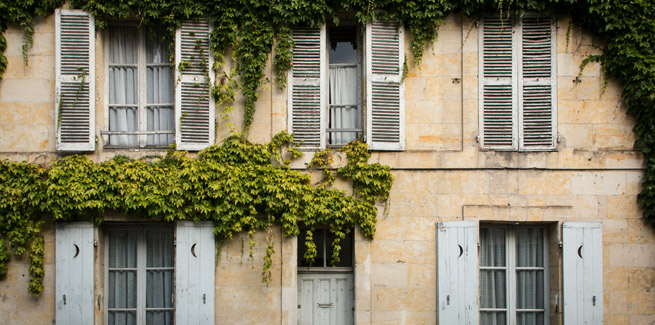 photograph of an old french house
