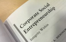 Photograph of the heading of Corporate Social Entrepreneurship by Christine A Hemingway