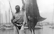 EH 1306N    July 1934 Ernest Hemingway with marlin. Havana Harbor, Cuba. Photograph in the Ernest Hemingway Photograph Collection, John Fitzgerald Kennedy Library, Boston.