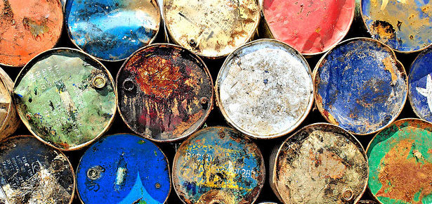 old oil drums