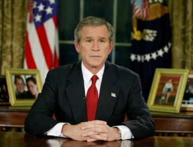 President George W. Bush relied on expert judgement about Weapons of Mass Destruction in his justification for the 2003 Iraq war. Photo: Public Domain.