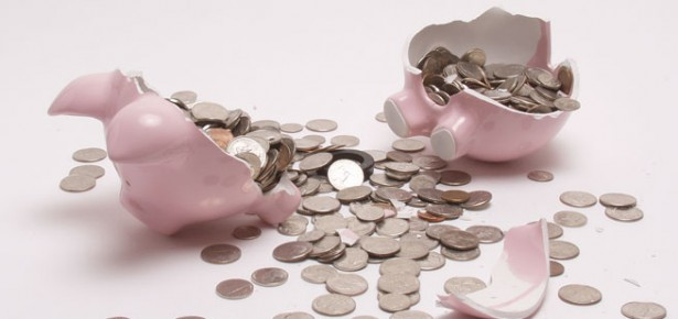 Broken Piggybank. Photo: Jacob Edward via Creative Commons.