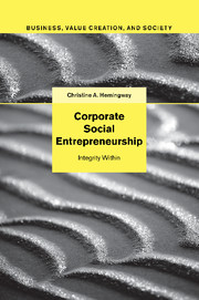 Corporate Social Entrepreneurship by Christine A Hemingway cover