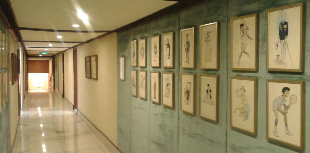 RK Laxman's cartoons on the walls of Taj Man Singh, New Delhi. Photo: Ritu Gairola Khanduri.