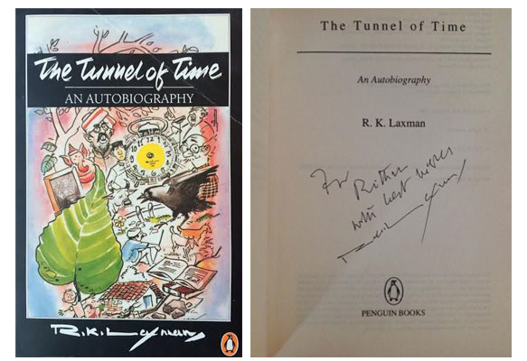 'The Tunnel of Time' (Penguin, 1998) signed by R. K. Laxman.