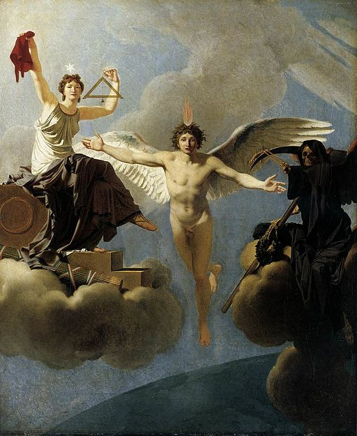 The Genius of France between Liberty and Death by Jean-Baptiste Regnault [Public domain], via Wikimedia Commons.