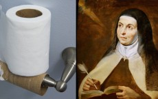 Saint Teresa and the toilet roll