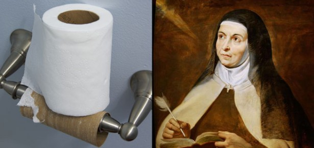 Saint Teresa and the toilet roll