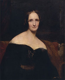 Mary Shelley's portrait by Richard Rothwell, shown at the Royal Academy in 1840