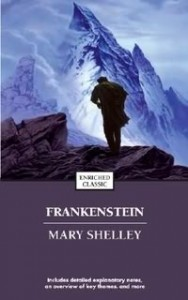Frankenstein First Edition cover, painted by John Coleman Burroughs