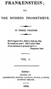 Frankenstein Volume I, first edition (Lackington, Hughes, Harding, Mavor & Jones)