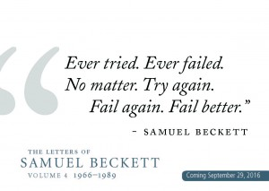 Beckett postcard ever tried ever failed no matter try again fail again fail better