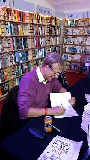 Kevin signing books at Cheltenham resize