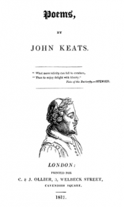 title-page of Keats's first volume of poetry