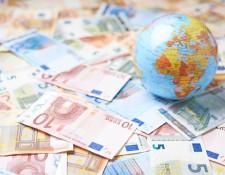 Shutterstock - globe and money