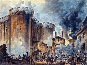 Prise de la Bastille - Storming of The Bastille by Jean-Pierre Houël