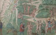4.5 Vallard Atlas, map 12, detail from eastern South America. The Huntington Library, San Marino, CA, HM 29.