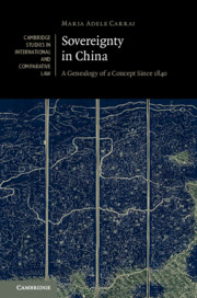 Sovereignty in China by Maria Adele Carrai