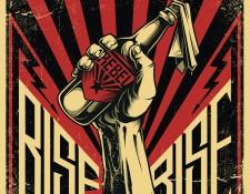 Classic rebellion symbol, bottle of Molotov cocktail.