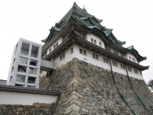 The concrete Nagoya Castle keep in January 2018, shortly before being closed for reconstruction from wood. Photo by the author.