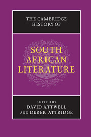 The Cambridge History of South African Literature By David Attwell and Derek Attridge